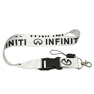 1pcs White Color USA Ship New Quick Release Neck Strap Lanyard Keychain Keyring Car Keys House Keys ID Badges Card For Infiniti Design: Automotive
