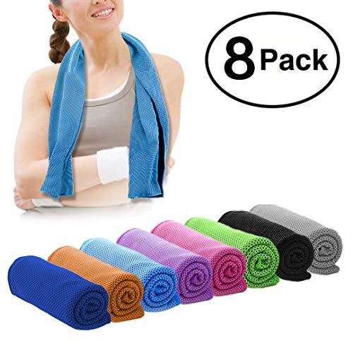 DARUNAXY 8 Pack Evaporative Cooling Towels 40