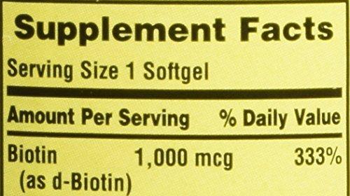 Amazon Com Spring Valley Biotin 1000 Mcg 150 Tablets Health