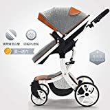 2 in 1 Baby Stroller Foldable Jogger Carriage Infant Travel System PU Pushchair