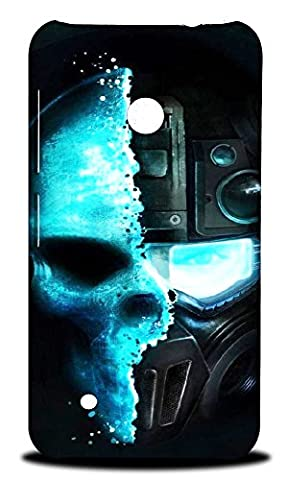 Foxercase Designs Art Arty Mechanical Machine Skull Hard Back Case Cover for Nokia Lumia 530 (Nokia Lumia 530 Back Cover Skulls)