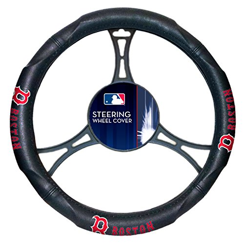 Red Sox OFFICIAL Major League Baseball, Steering Wheel Cover (Made to fit 14.5-15.5 steering wheels) by Northwest Official