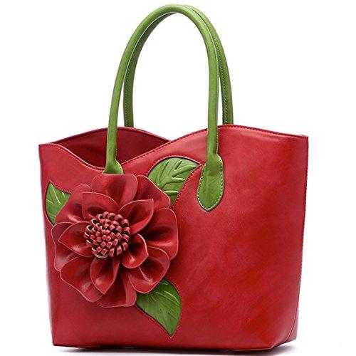 Rouge Mariage Main Sac Sac Sac Fleur KAXIDY Porté Sac épaule Messager Sac de Partie Bandoulière à A1wxU