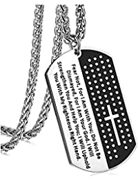 Cross Crucifix and Lord's Prayer Dog Tag religious jewelry