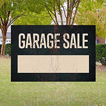 CGSignLab Garage Sale Ghost Aged Rust Double-Sided Weather-Resistant Yard Sign 5-Pack 27x18