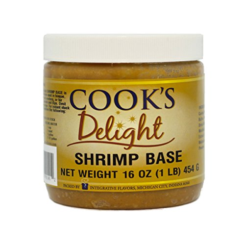 Shrimp Soup Base by Cook's Delight 1 Lb of base makes 5 1/2 gal of stock Shrimp Bouillon