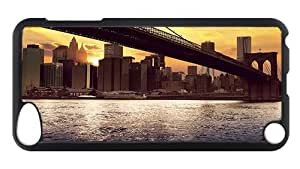 iPod Touch 5 Case, Nyc Dawn Rugged Case for iPod Touch 5/ /iPod 5/ iPod 5th Generation PC Materia Plastic Case Black