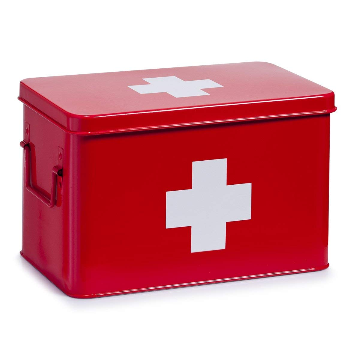 32 x 19,5 x 20 cm Zeller 18116 Boite /à pharmacie en m/ètal rouge