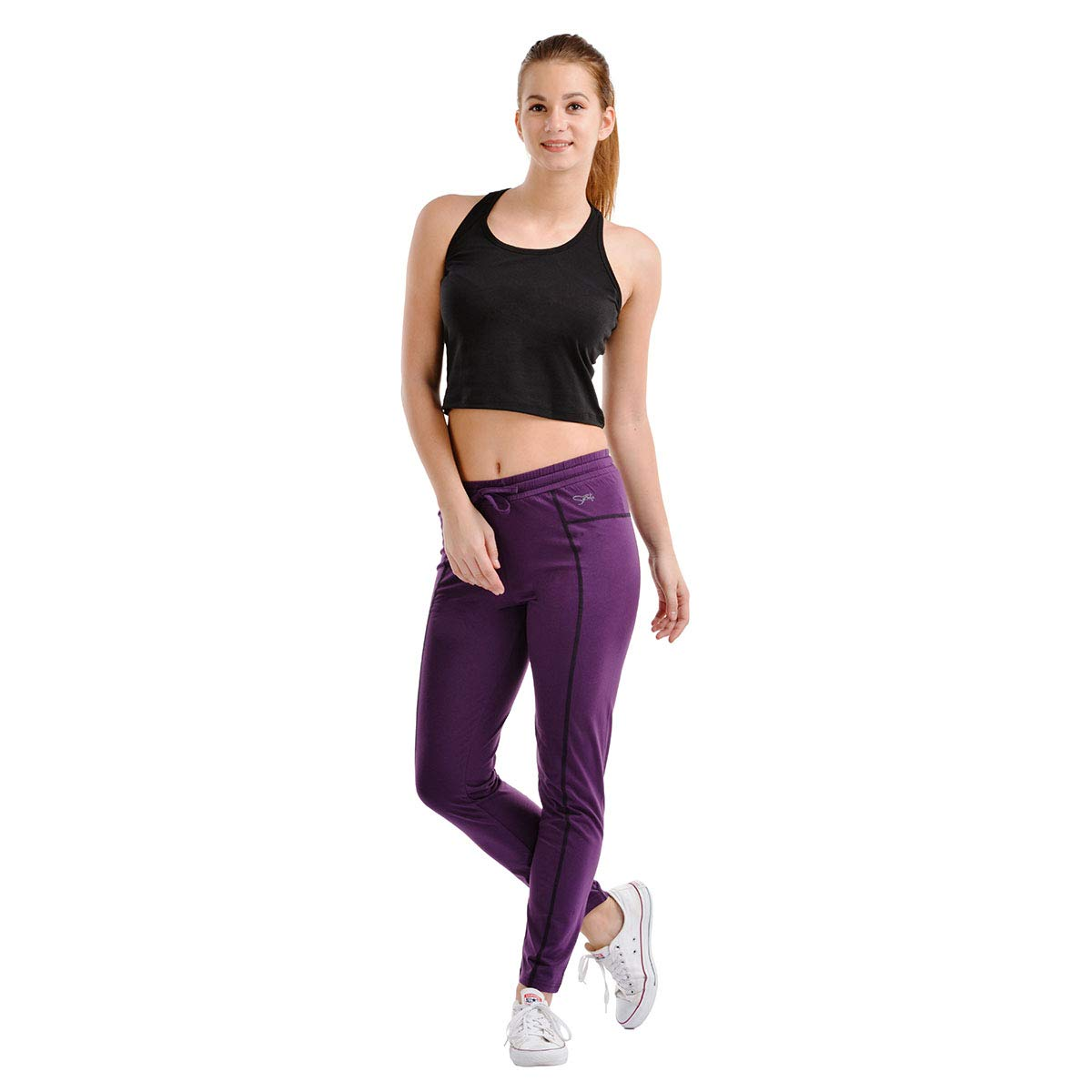 930822de8c5 Lovable Women Girls Micro Fabric Track Pant Solid in Purple - Trifit  Equinox Track PU  Amazon.in  Clothing   Accessories