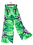 Hawaiian Floral Palazzo Pants Purple Nepal Wedding Resort Beachwear XS/S