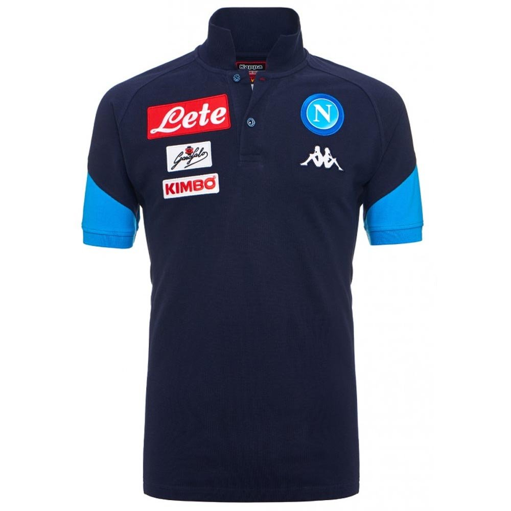 2017-2018 Napoli Cotton Polo Shirt (Navy) B0748HXLM4 Small Adults|Navy Navy Small Adults