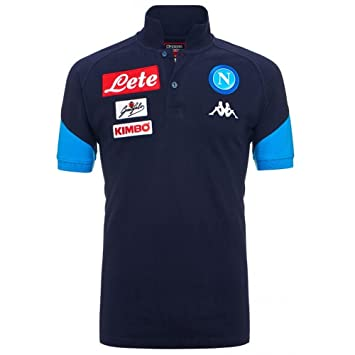 2017-2018 Napoli Cotton Polo Shirt (Navy): Amazon.es: Deportes y ...
