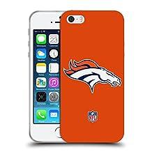Official NFL Plain Denver Broncos Logo Soft Gel Case for Apple iPhone 5 / 5s / SE