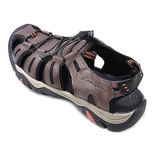 58c545fa7519 delicate Eddie Bauer Mens Genuine Leather Sandals