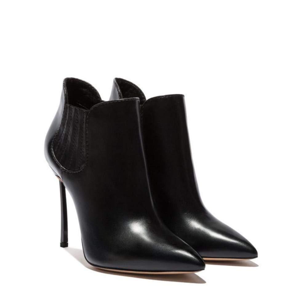 NVXUEZIX Damen Schuhe Kalb Haar Frühling Herbst Komfort Neuheit Modische Stiefel Stiefeletten Stiefel Walking Stöckelabsatz Spitze Zehe Stiefelies
