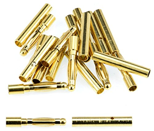 Apex RC Products 2.0mm Male / Female Gold Plated Bullet Connectors Plugs - 10 Pair #1100
