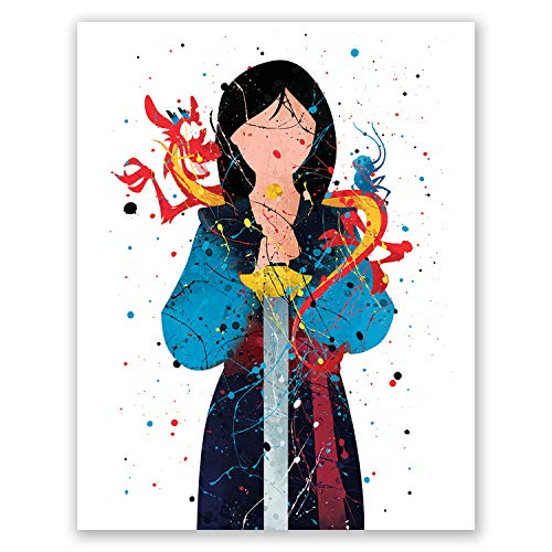 Mulan Poster Print - Princess Wall Art Girls Bedroom Decor - Birthday Party Decoration Idea -Nursery Theme Picture (8x10)