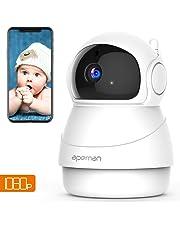Apeman 1080p Telecamera Sorveglianza Wifi, Videocamera IP Wireless Interno, Visione Notturna a Infrarossi, Audio Bidirezionale, Sensore di Movimento, Ruotato