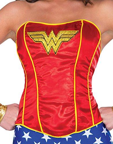 Rubie's Women's Corset, Wonder Woman, Small/Medium