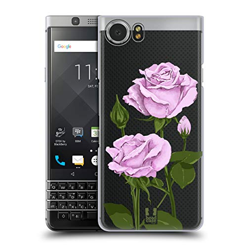 - Head Case Designs Sterling Silver Roses and Wildflowers Hard Back Case Compatible for BlackBerry KEYone/Mercury