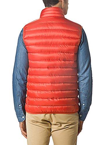 XPOSURZONE Men Packable Ultralight Down Vest Outdoor Puffer Vest Rust Orange -