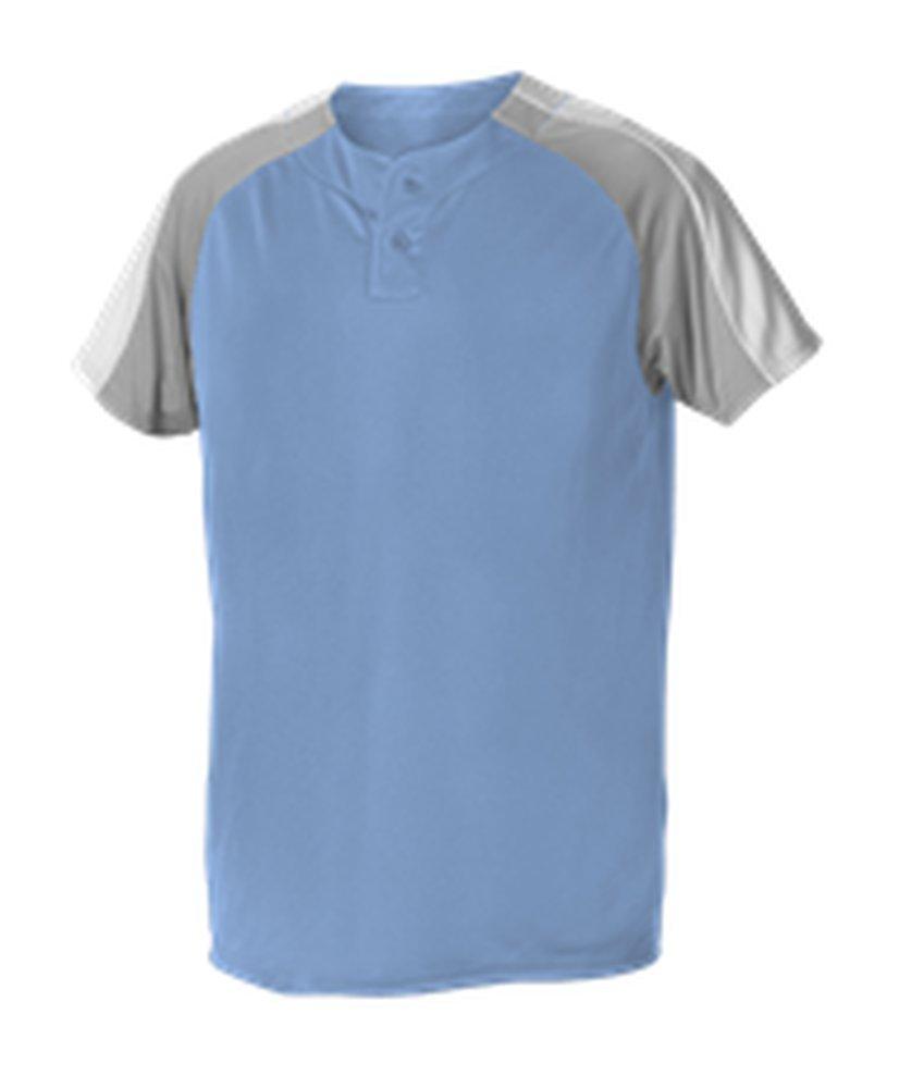 Alleson Athletic SHIRT メンズ B074N9X6J1 M|Columbia Blue, Grey, White Columbia Blue, Grey, White M