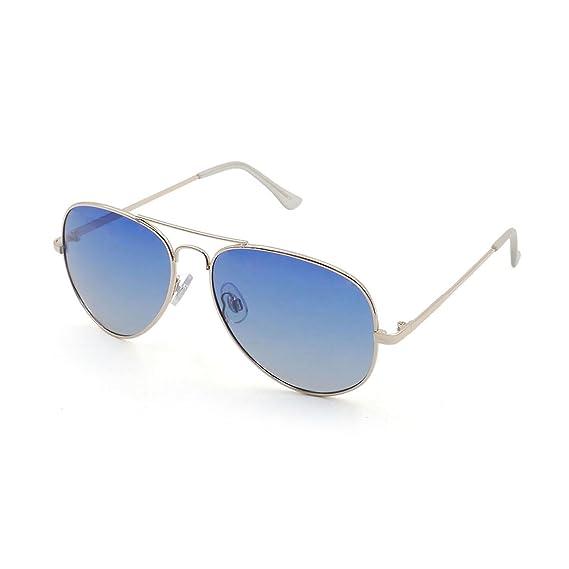 OCEAN SUNGLASSES Banila aviator - lunettes de soleil en MÃBlackrolltal - Monture : DorÃBlackroll - Verres : DÃBlackrollgradÃBlackroll Bleu (18110.3) uL3cW