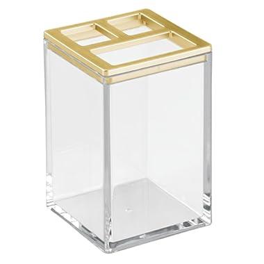 InterDesign Clarity Bathroom Vanity Canister Jar