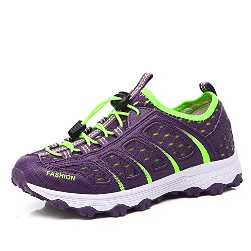 Purple Breathable Gomnear Women on Summer Slip Sneakers Shoes Sport Rr4drx8q