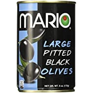 Mario Camacho Foods Black Olives, Large Pitted, 6 Ounce
