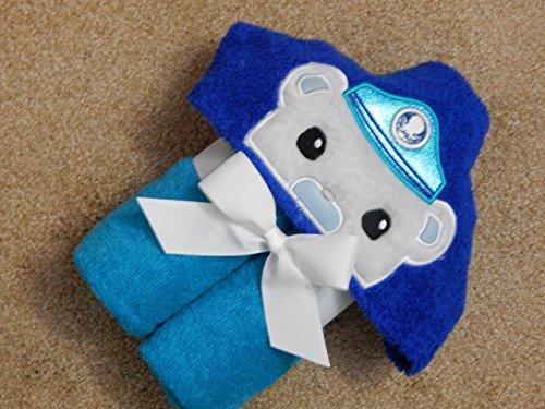 Personalized Sea Explorer Captain Bear Hooded Towel]()