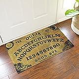 Jeteven Ouija Board Doormat Rubber Non Slip Indoor/Outdoor Floor Mat Rug 75X45cm/29.5X17.7''