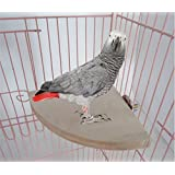 Yosoo 17cm*17cm Parrot Bird Cage Perches,Wooden Fan Shaped Pet Stand Platform Springboard Play Toy for Rat Mouse Hamster