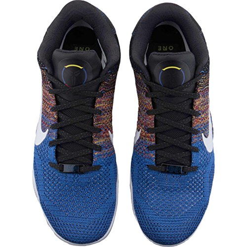 Nike Kobe Xi Elit Låg Bhm 822522-914 Vit / Kunglig Flyknit Mens Basketskor Flerfärgade / Vit / Spel Royal