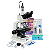 OMAX 2500X Digital LED Microscope 5MP USB Camera + Slide Preparation Kit + Cleaning Kit + Book + Blank Slide