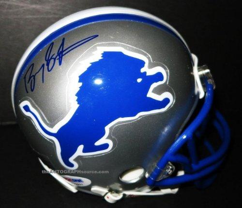 Barry Sanders autographed mini helmet