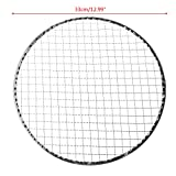 zrshygs Disposable Wrapped Barbecue Net Wire Mesh Round Grill Grilled Fish And Vegetables Tools 33cm 1Pc