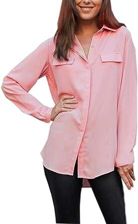 Dream_Mimi - Camisa de Gasa para Mujer, Estilo Casual, de ...