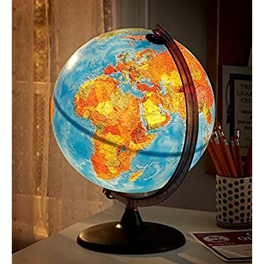 Orion Relief Globe - Illuminated with Non-Tip Base by HearthSong
