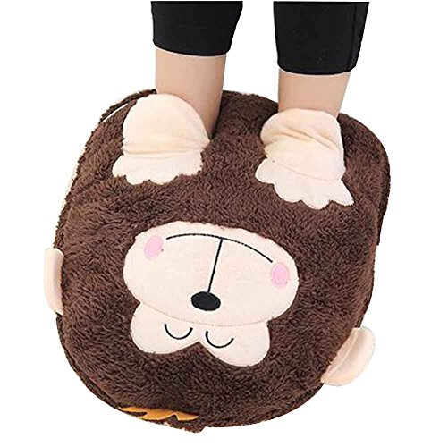 Cartoon Foot Warmer Plush Slipper No Electric Just A Plush Slipper [F] nwQ1c