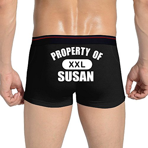 Property Of SUSAN Printing Of Sexy Comfort Soft Waistband Boxer Briefs