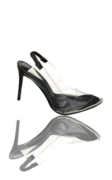 03da0c1596b IKRUSH Women s Tildi Patent Perspex Court Heels Size in Black Size 3