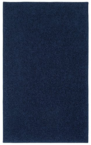 Nance Industries OurSpace Bright Area Rug, 6-Feet by 9-Feet, Midnight Navy Blue