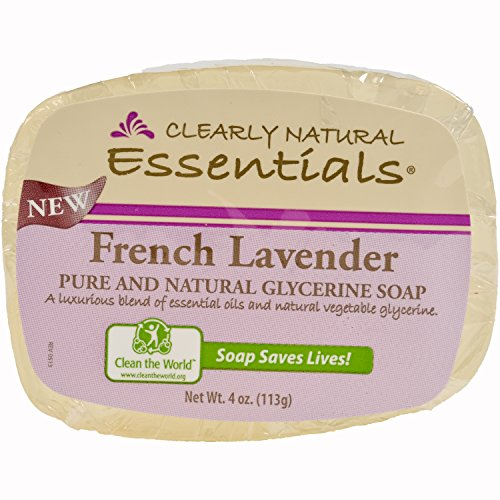 Clearly Natural Essentials Glycerin Bar Soap, Pack of 12, 4-Ounces Each ()