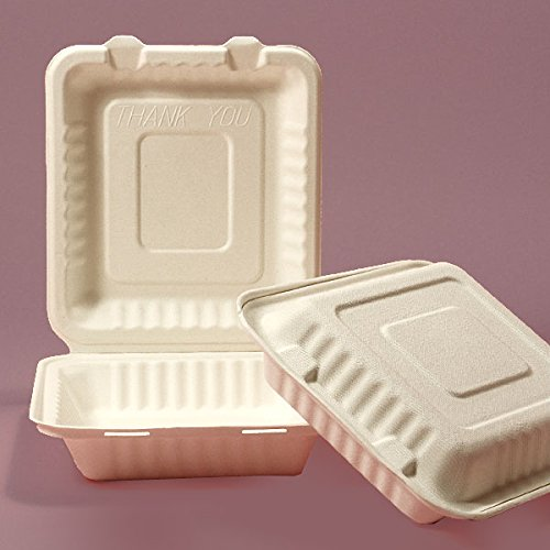 Clamshell To Go Boxes 9'' X 9'' - Restaurant Supplies - 200 each by Paper Mart