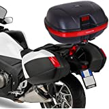 HOMCOM 35L Top Back Box Case Topbox Topcase Motorcycle Back Case Scooter Rear Luggage Universal