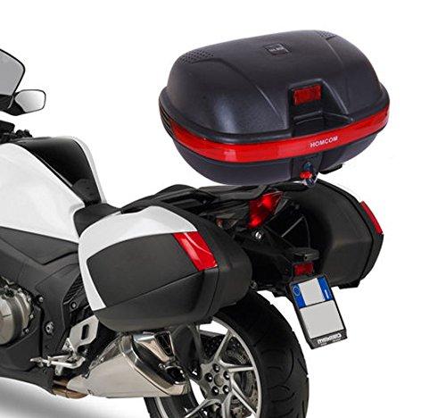 HOMCOM 35L Top Back Box Case Topbox Topcase Motorcycle Back Case Scooter Rear Luggage Universal MHStar UK LTD 5094-0008