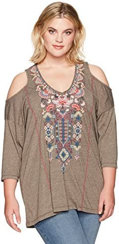 JWLA By Johnny Was Womens Plus Size Nindi Cold Shoulder Tunic