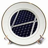 3dRose Alexis Photography - Objects - Dark blue solar power panel, white frame, diagonal view - 8 inch Porcelain Plate (cp_271346_1)
