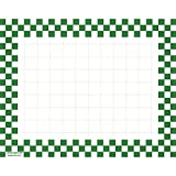 Retail Price Sign Sign Cards White Cards With Green Checkerboard Border - 5 1/2 L x 7'' H 100 Per Pack
